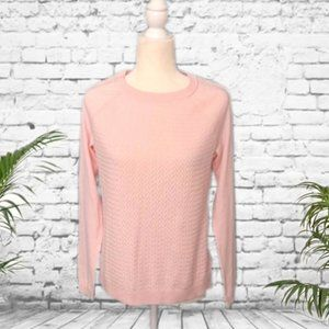 Sonoma Light Pink Cable Knit Pullover Sweater